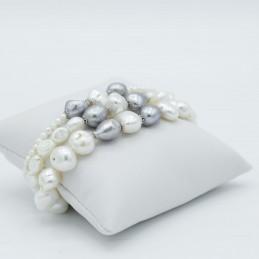 Bracciale di perle naturali...